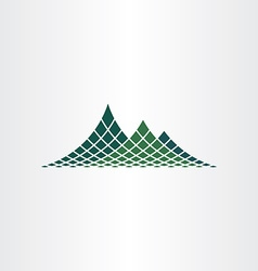 dotted mountain icon vector image vector image