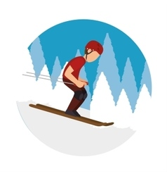 extreme sports snowboard design isolated vector image