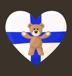 Finnish Teddy Bears vector image vector image
