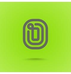 Graphic line font logo element letter o vector