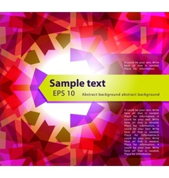 kaleidoscope abstract background vector image vector image