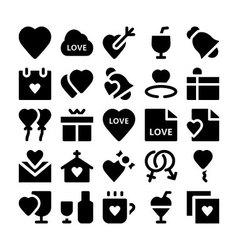 Love and romance icons 1 vector