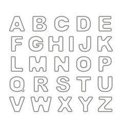 Outline bold vintage retro font vector