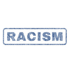 racism textile stamp vector image