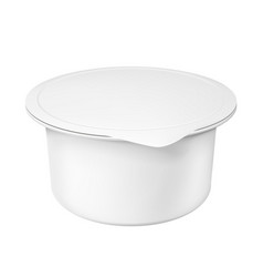 realistic white mock up blank plastic container vector image vector image