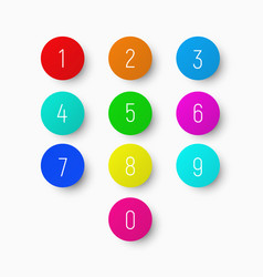 set of numbers from 1 to 9 on a round vector image