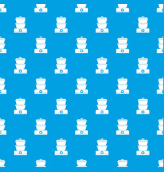 Steamer pattern seamless blue vector