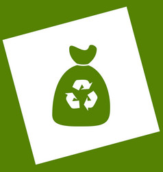 Trash bag icon white icon obtained as a vector
