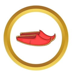 Turkish shoes icon vector
