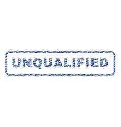 Unqualified textile stamp vector