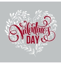 Valentines day card design Hand drawn text vector image vector image