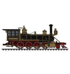 vintage black american steam locomotive vector image vector image