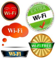 Wi fi logos set vector image vector image