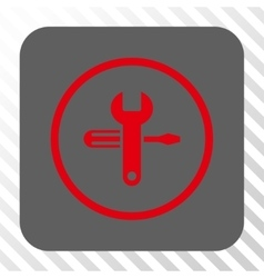 Tuning rounded square button vector