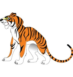 Cartoon tiger vector