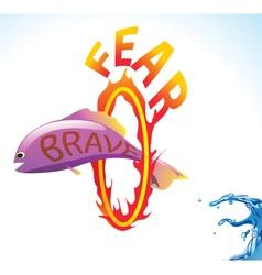 fish brave vector image