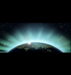 world globe eclipse background vector image