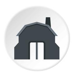 Blacksmith workshop building icon circle vector