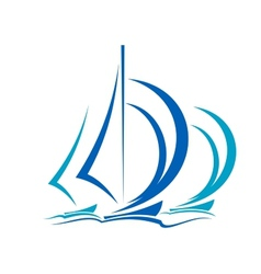 Dynamic motion of sailboats vector image