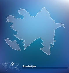 Map of azerbaijan vector