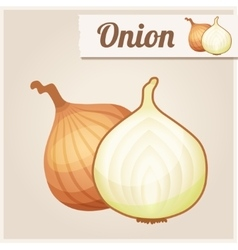 Detailed icon onion vector
