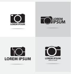 Compact camera logo vector