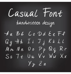 Casual handwritten font design vector