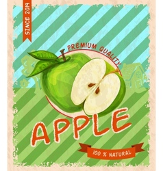 Apple retro poster vector