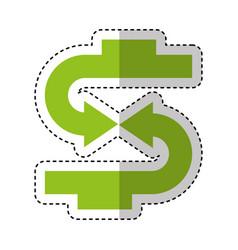 arrows symbol money icon vector image