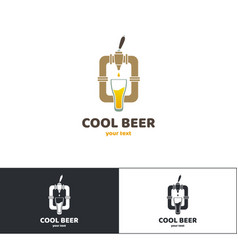 Beer logo four vector