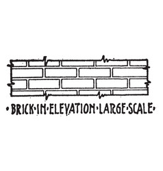 Brick in elevation large scale material symbol vector