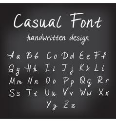 Casual handwritten font design vector image