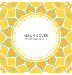 Colorful ornamental album cover template vector