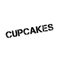 Cupcakes rubber stamp vector