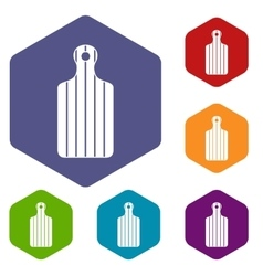 Cutting board icons set vector