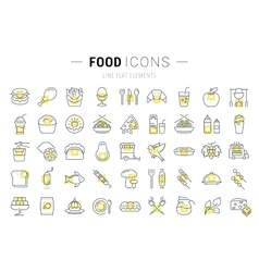 Food Line Icons vector image vector image