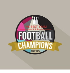 Football champions badge vector