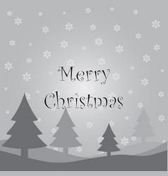 gray christmas card vector image vector image