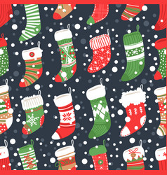hand drawn card with christmas socks for gifts and vector image vector image