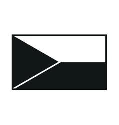 High detailed flag of Czech monochrome on white vector image