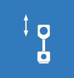 Icon piston and arrows vector