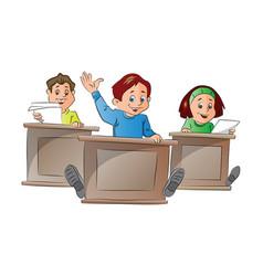 kids in school vector image vector image