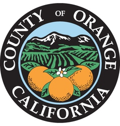 Orange county seal vector