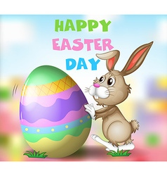 Poster design with easter theme vector