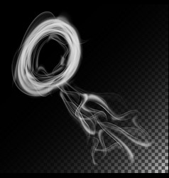 realistic cigarette smoke waves white and vector image
