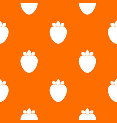 Ripe persimmon pattern seamless vector