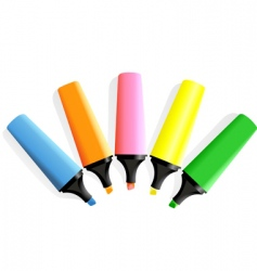 set of markers vector image vector image