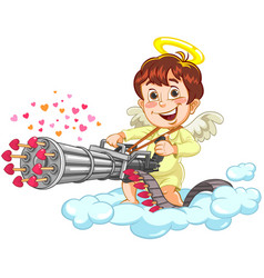 shooting little baby angel vector image vector image