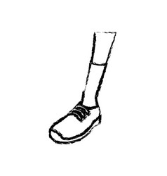 Sketch leg sneaker sock sport design vector