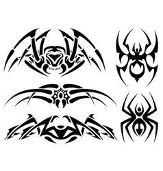 Spider tattoos vector